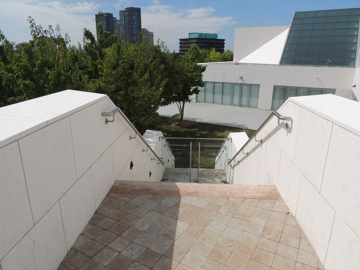 Ismaili Centre Stairwell to Aga Khan Park Simergphotos Malik Merchant